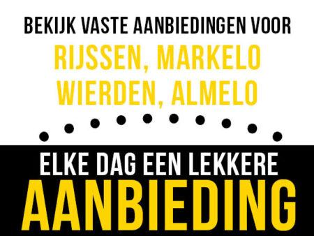 Aanbiedingen winkels Rijssen, Markelo, Wierden en Almelo